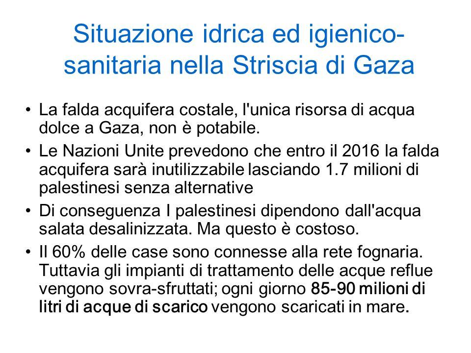 Situazione idrica ed igienico-sanitaria nella Striscia di Gaza
