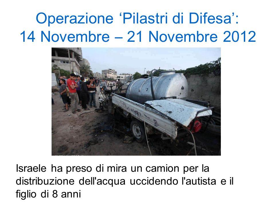 Operazione 'Pilastri di Difesa': 14 Novembre – 21 Novembre 2012
