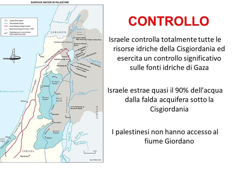 I palestinesi non hanno accesso al fiume Giordano