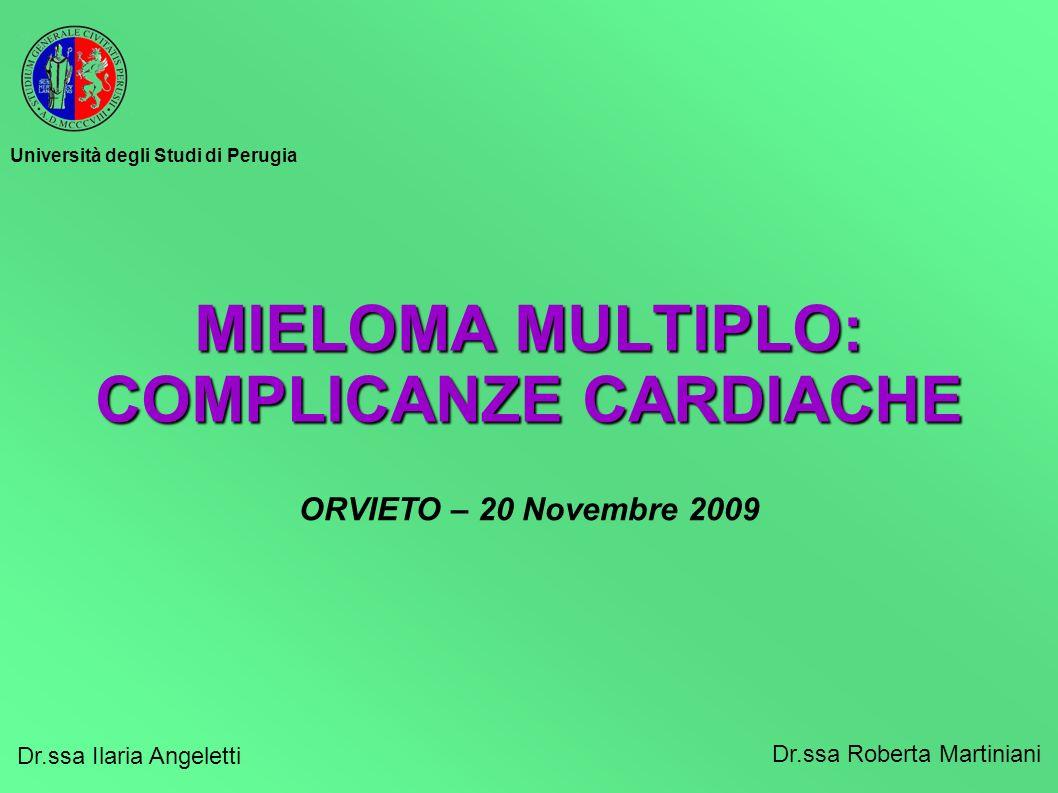 MIELOMA MULTIPLO: COMPLICANZE CARDIACHE