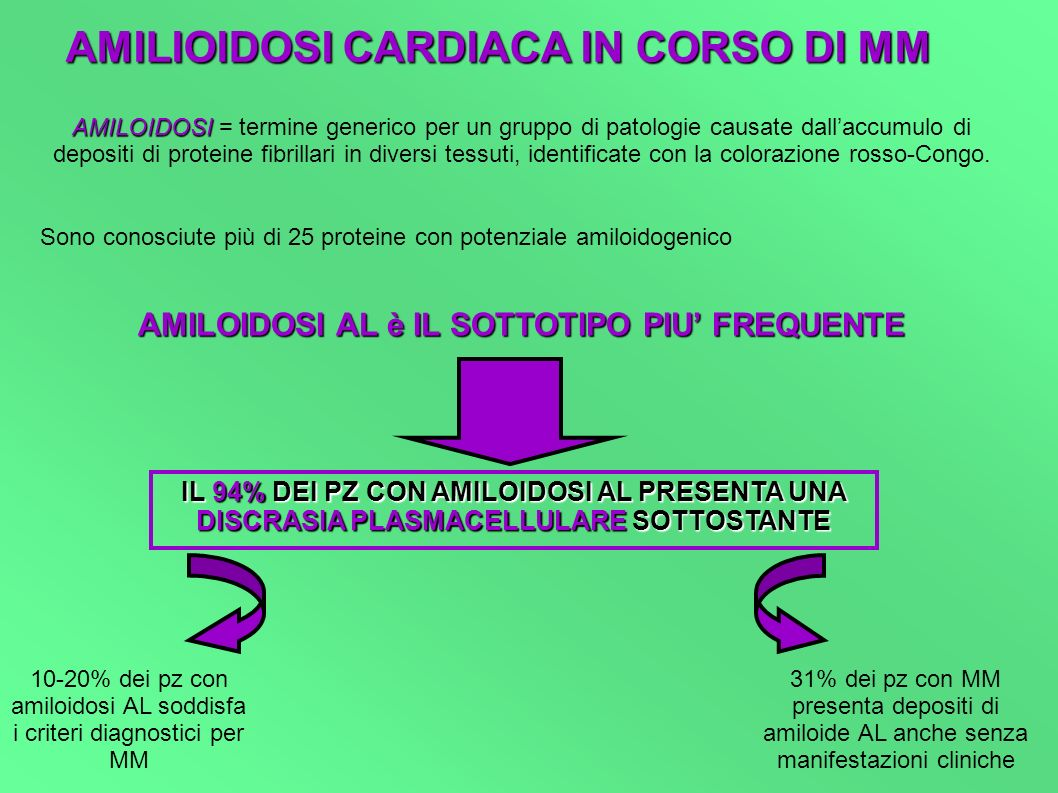 AMILIOIDOSI CARDIACA IN CORSO DI MM