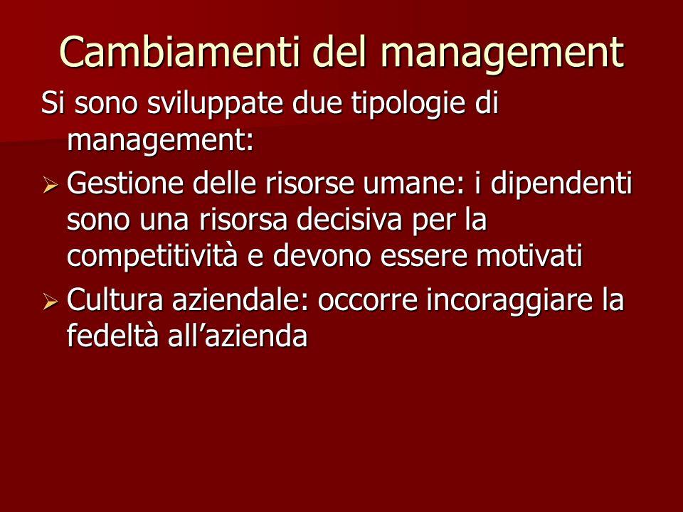 Cambiamenti del management