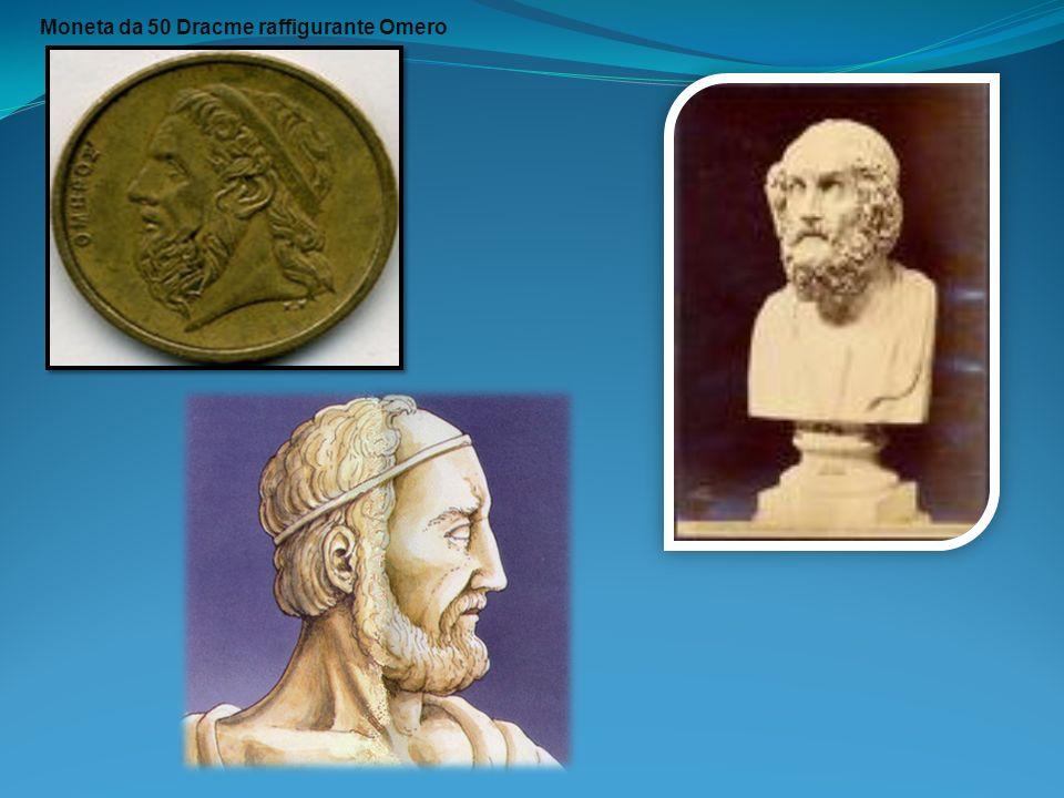 Moneta da 50 Dracme raffigurante Omero