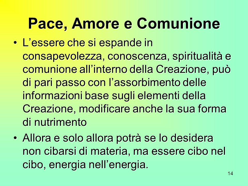 Pace, Amore e Comunione