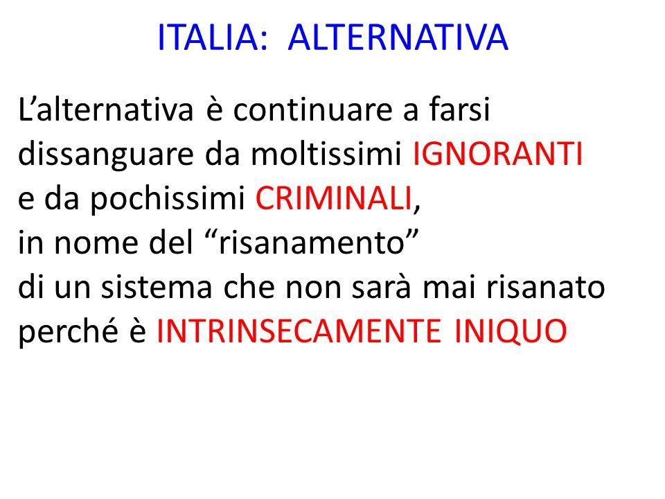 ITALIA: ALTERNATIVA