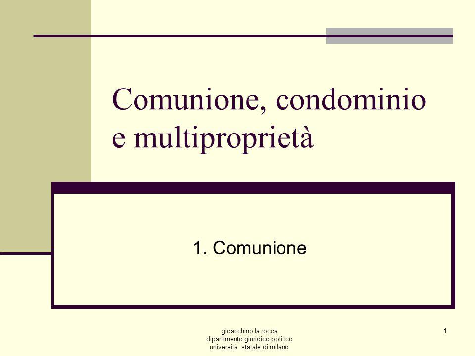 Comunione, condominio e multiproprietà