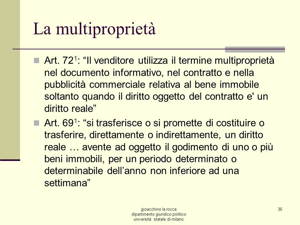La multiproprietà