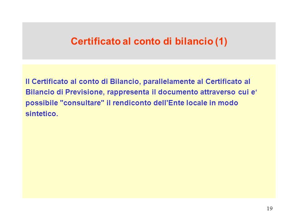 Certificato al conto di bilancio (1)