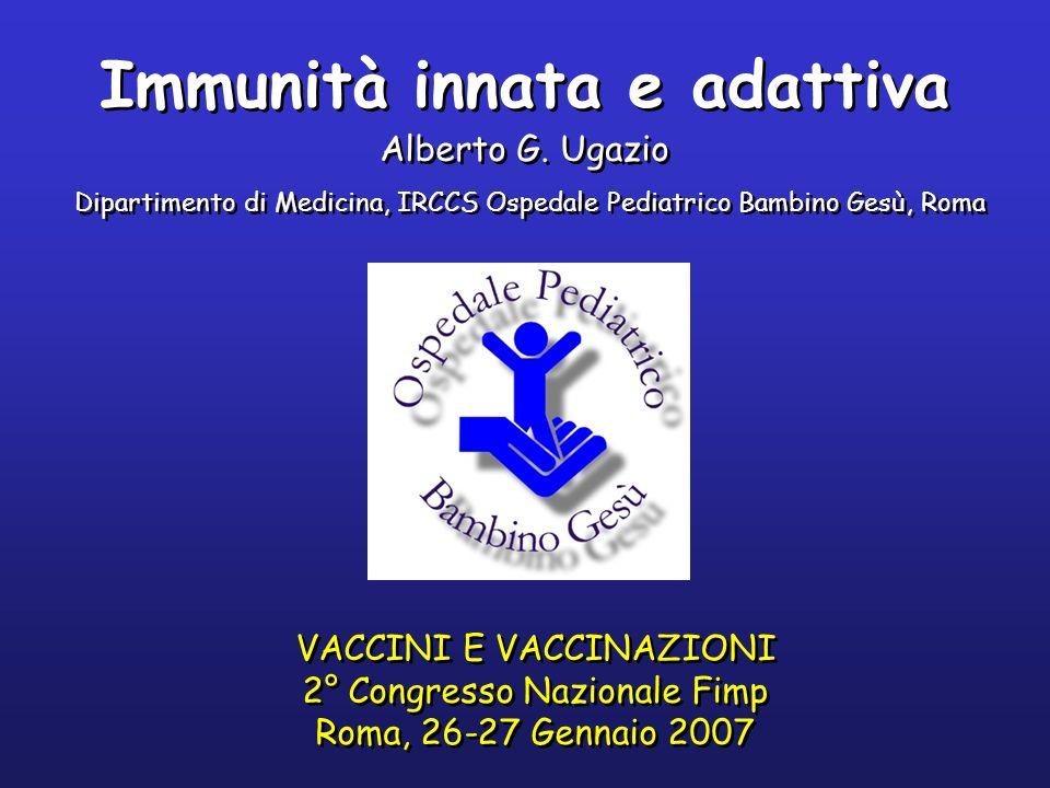 Immunità innata e adattiva