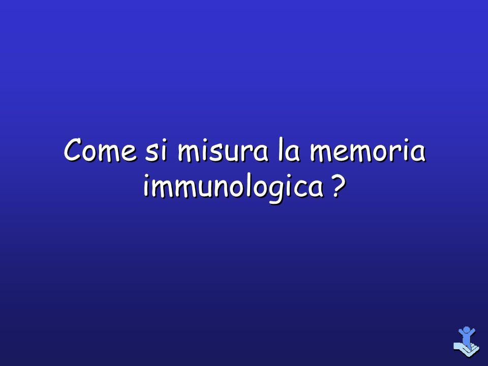 Come si misura la memoria immunologica
