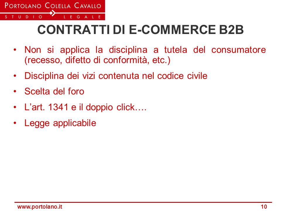 CONTRATTI DI E-COMMERCE B2B