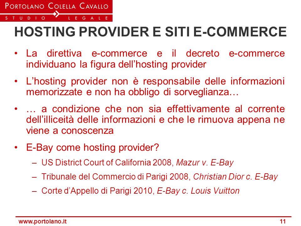 HOSTING PROVIDER E SITI E-COMMERCE