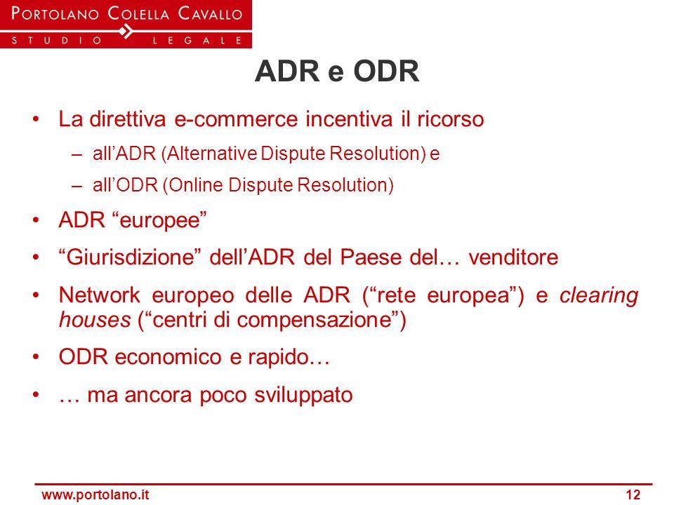 ADR e ODR La direttiva e-commerce incentiva il ricorso ADR europee