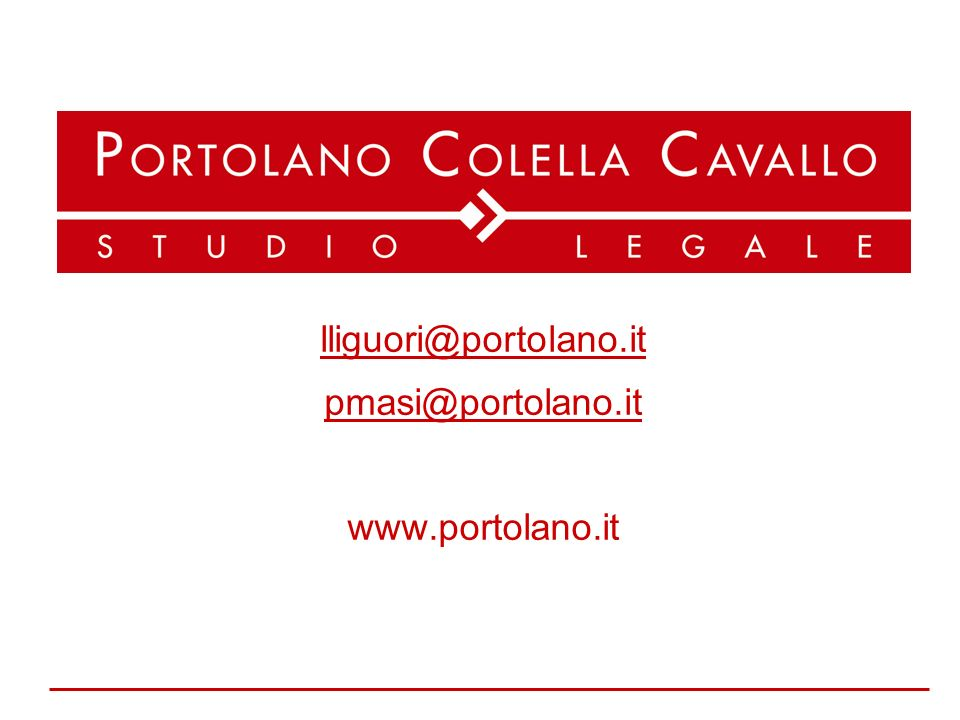lliguori@portolano.it pmasi@portolano.it www.portolano.it