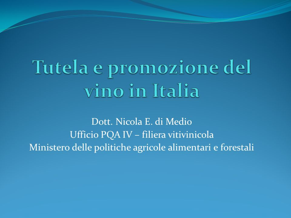 Tutela e promozione del vino in Italia
