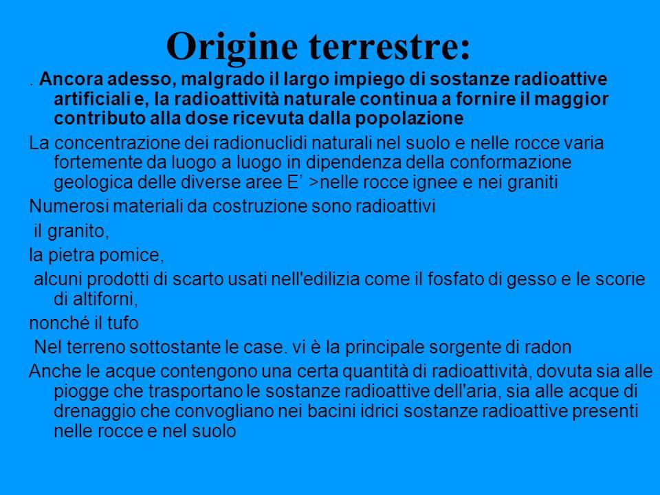 Origine terrestre: