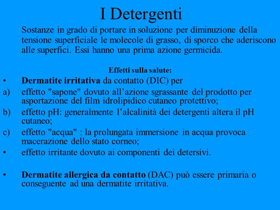 I Detergenti