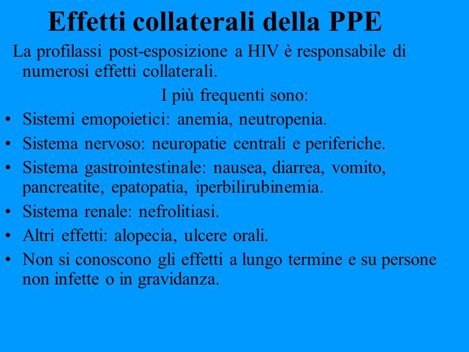 Effetti collaterali della PPE