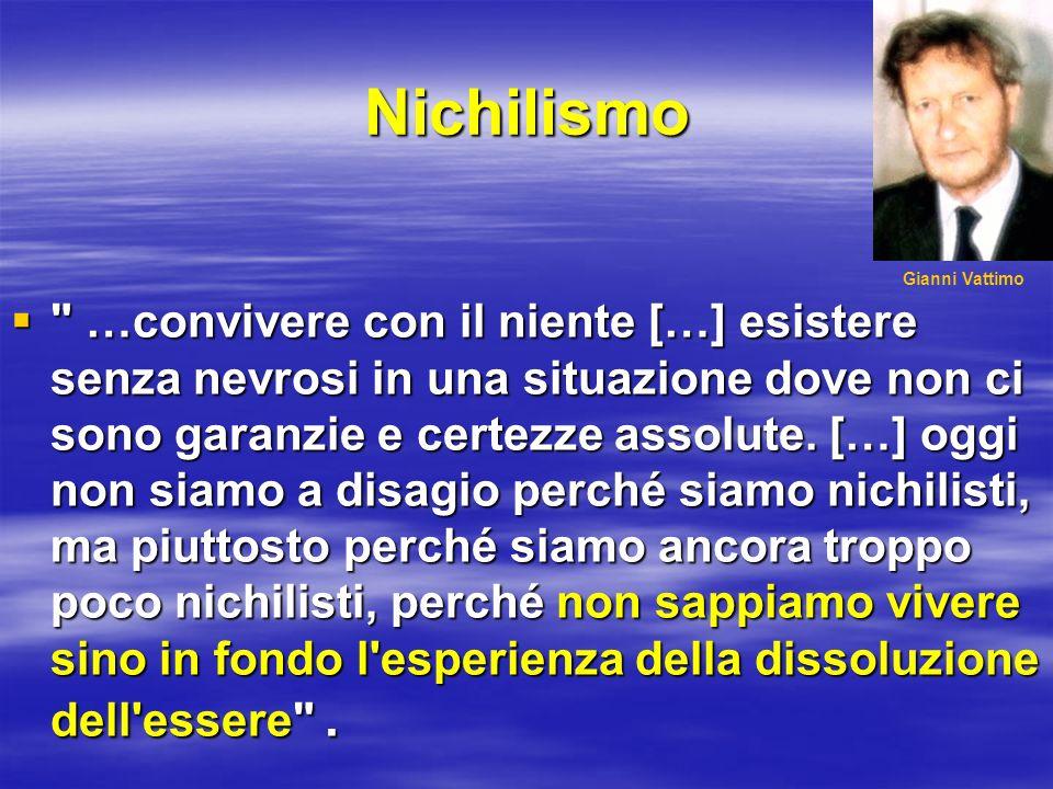 Nichilismo Gianni Vattimo.