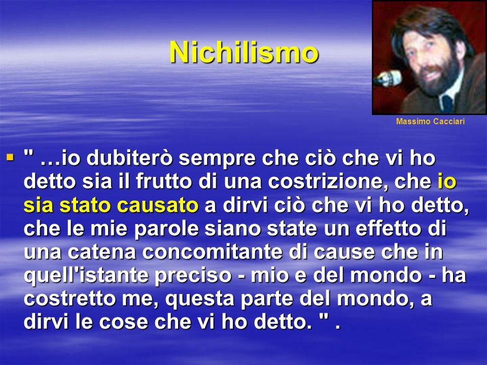 Nichilismo Massimo Cacciari.