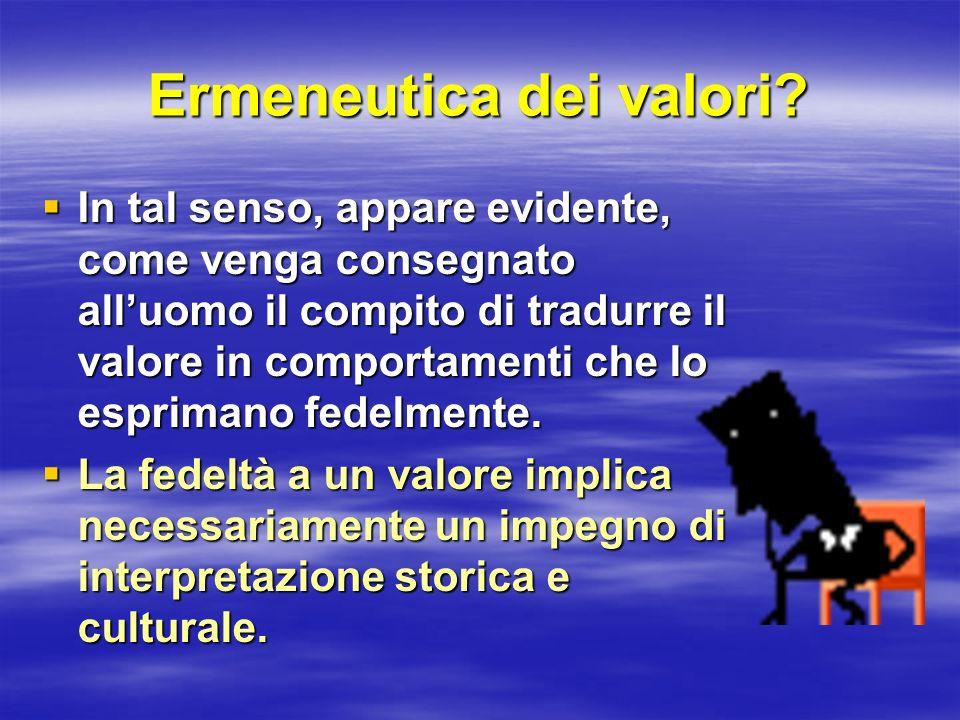 Ermeneutica dei valori