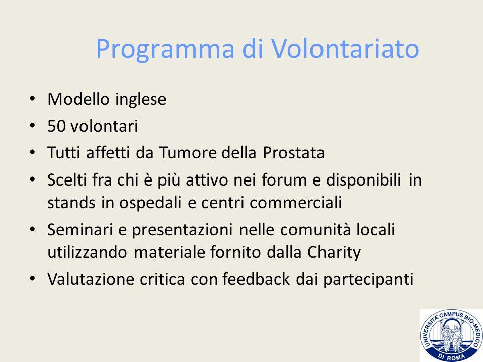 Programma di Volontariato