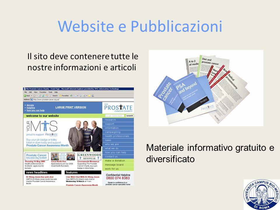Website e Pubblicazioni
