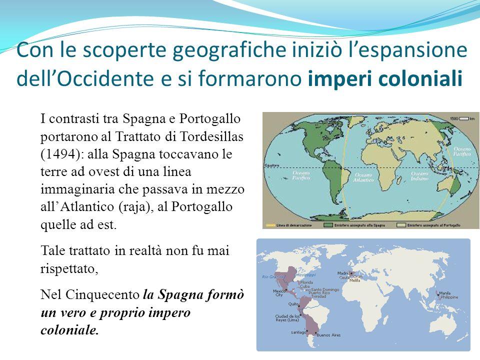 Con le scoperte geografiche iniziò l'espansione dell'Occidente e si formarono imperi coloniali