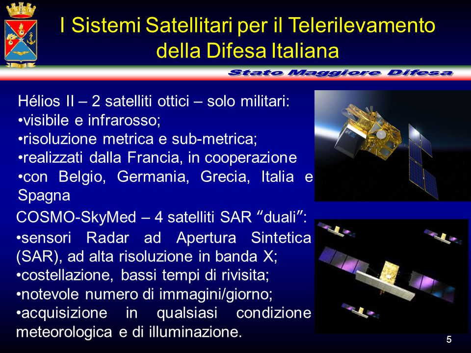 I Sistemi Satellitari per il Telerilevamento
