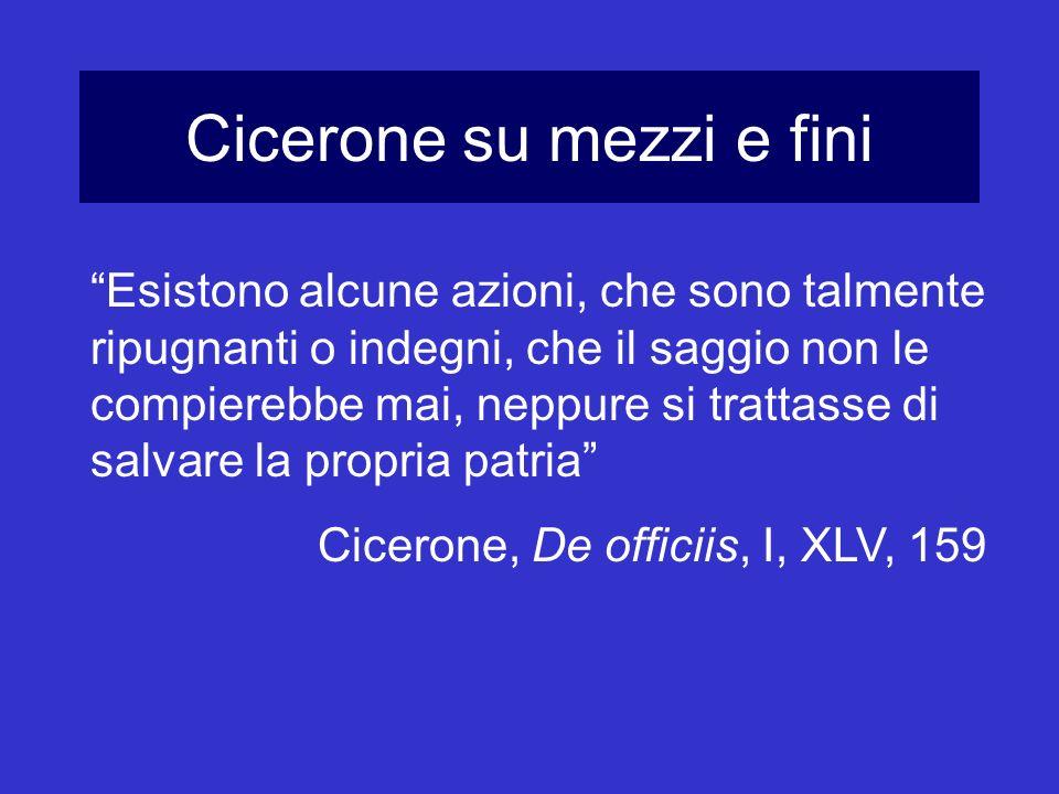Cicerone su mezzi e fini