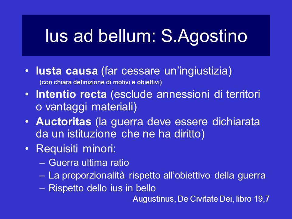 Ius ad bellum: S.Agostino