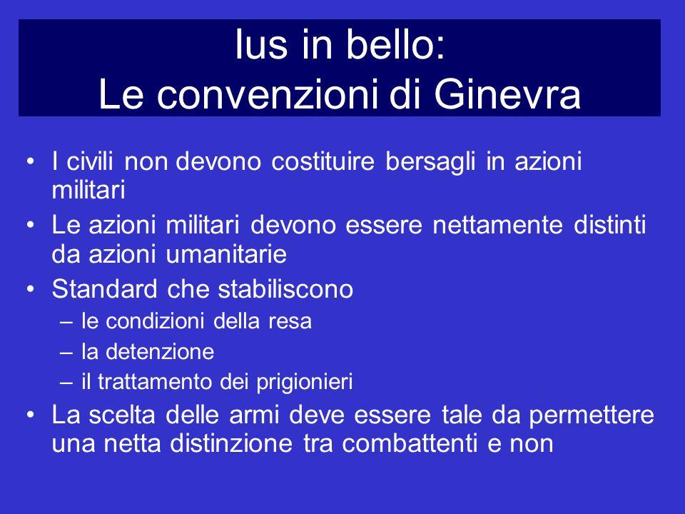Ius in bello: Le convenzioni di Ginevra