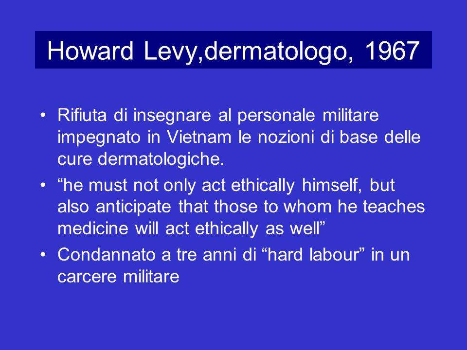 Howard Levy,dermatologo, 1967