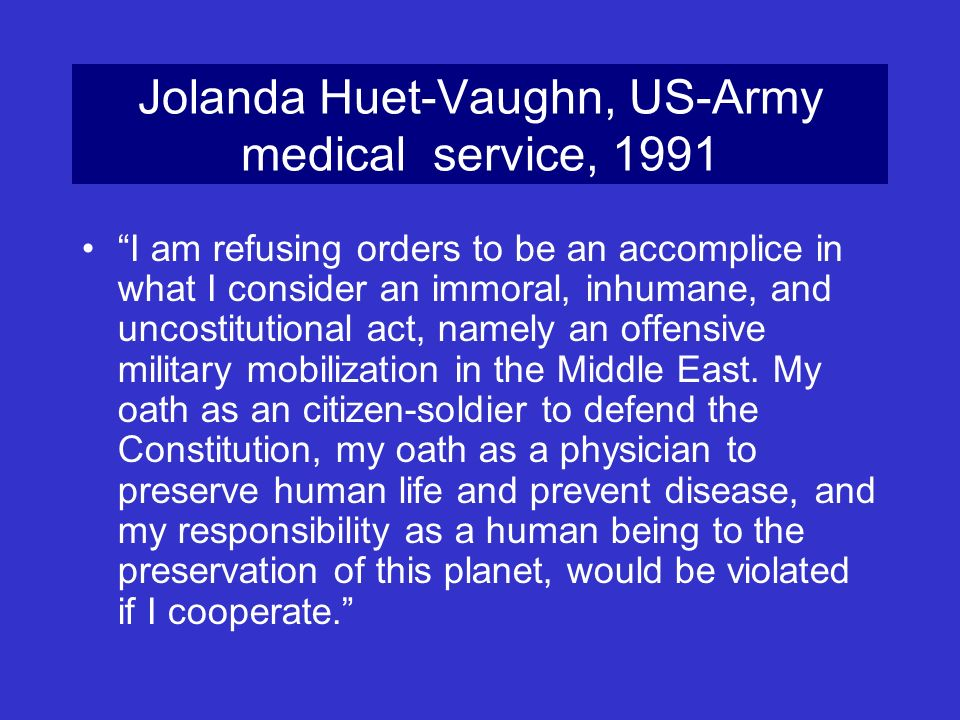 Jolanda Huet-Vaughn, US-Army medical service, 1991