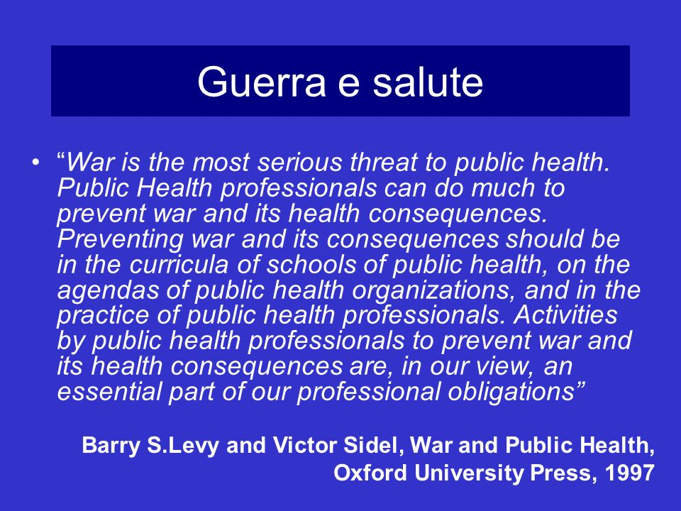Guerra e salute