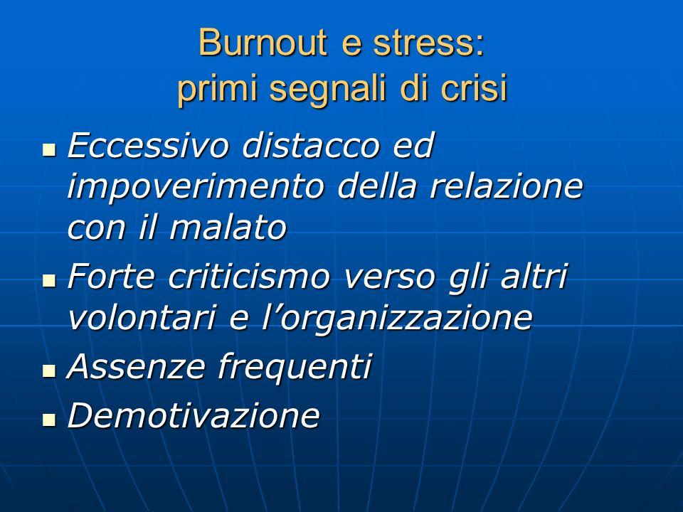 Burnout e stress: primi segnali di crisi