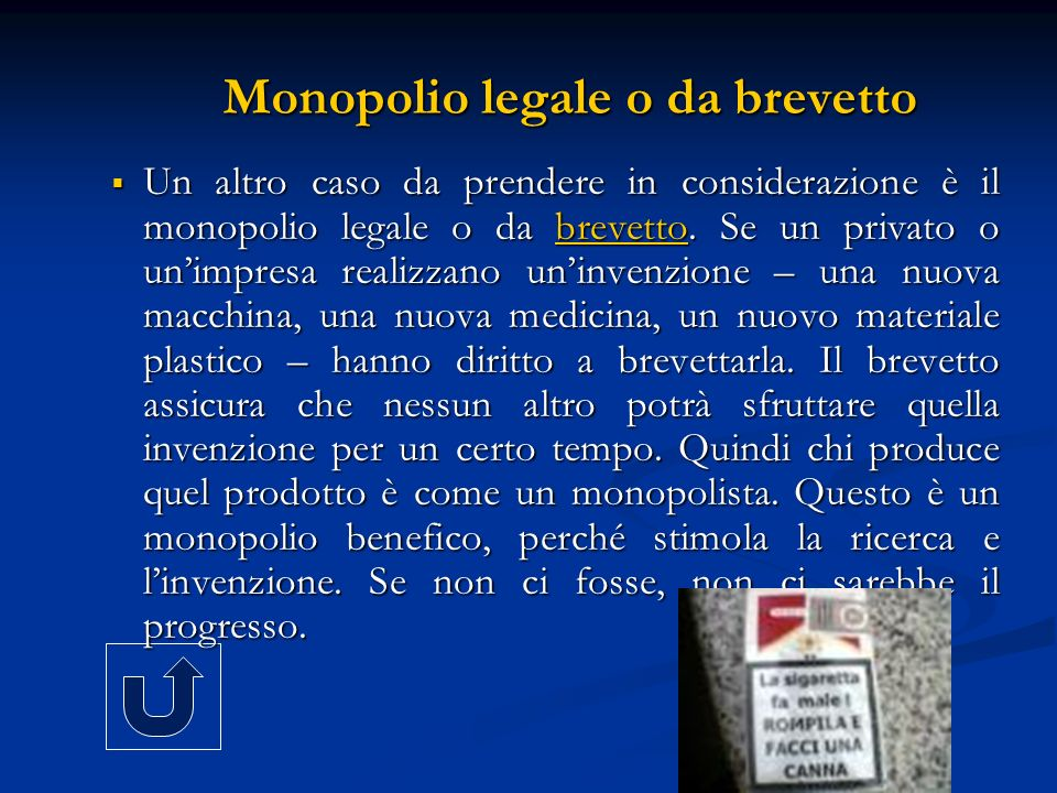 Monopolio legale o da brevetto