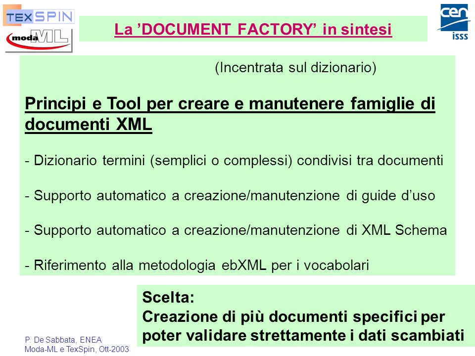 La 'DOCUMENT FACTORY' in sintesi
