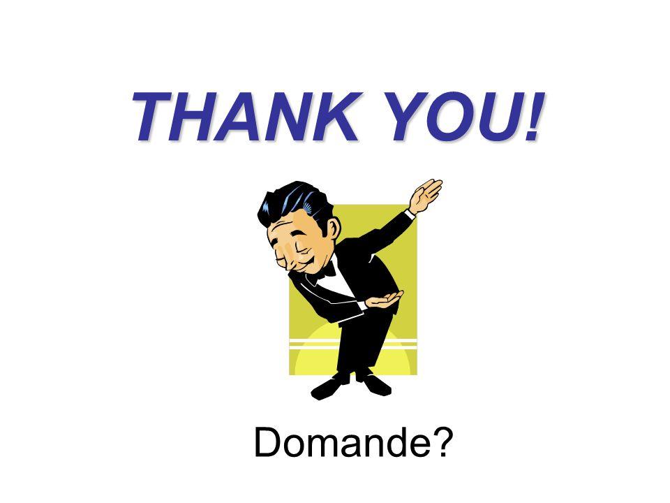 THANK YOU! Domande