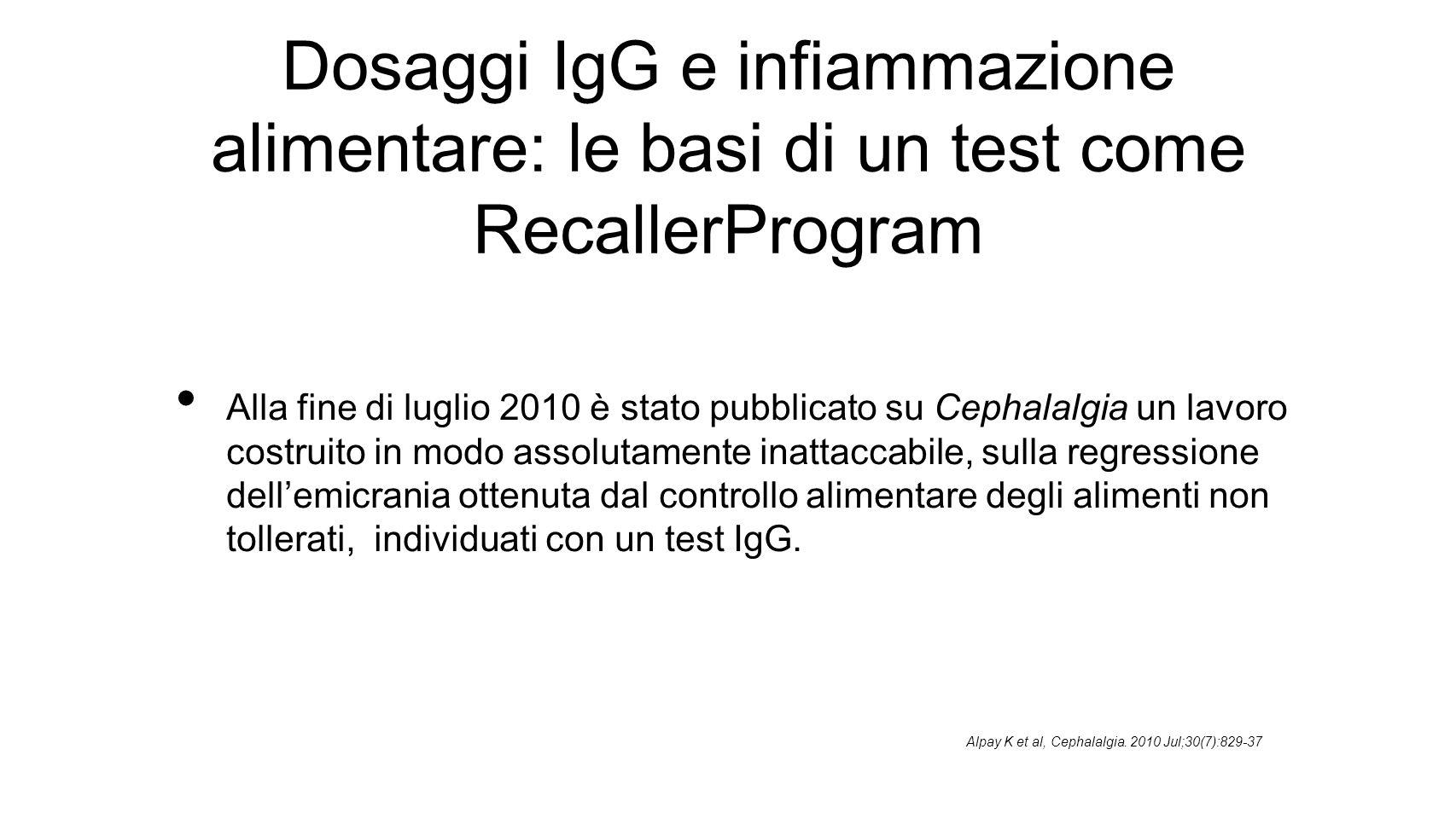 Dosaggi IgG e infiammazione alimentare: le basi di un test come RecallerProgram