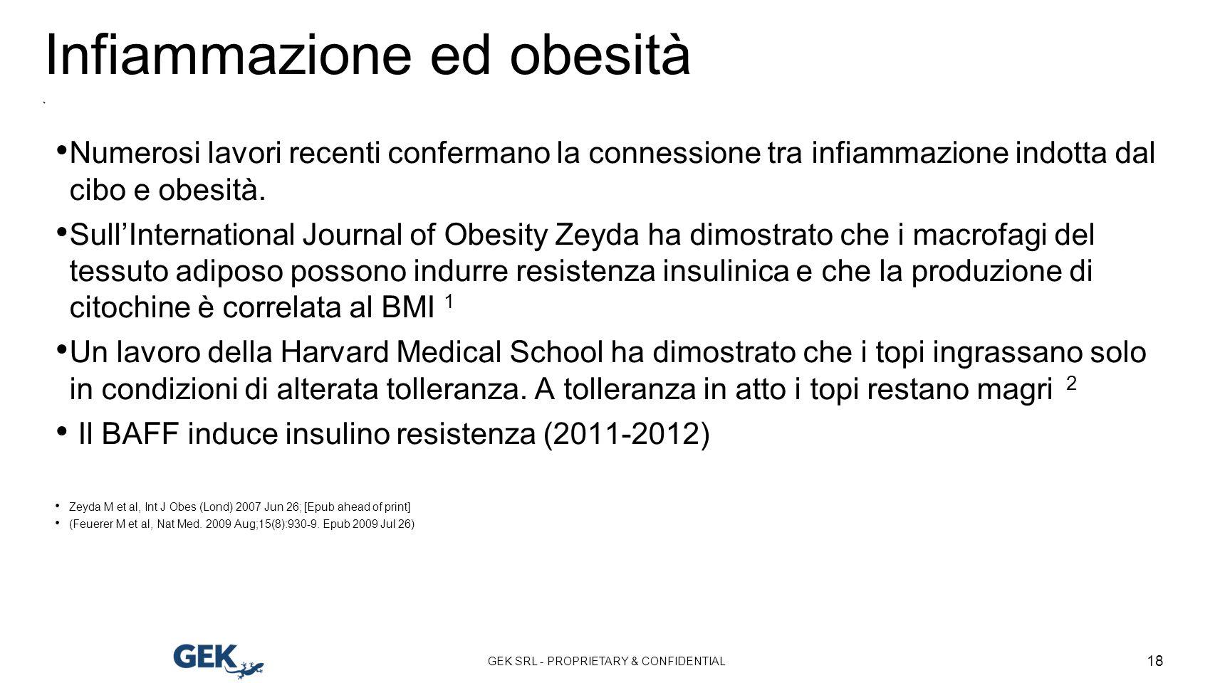 Infiammazione ed obesità