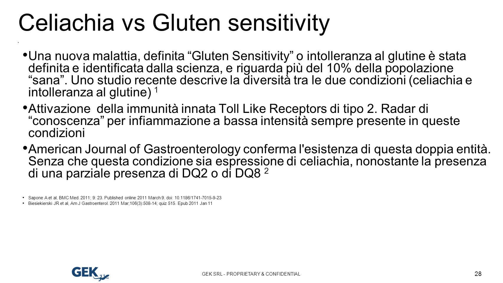 Celiachia vs Gluten sensitivity