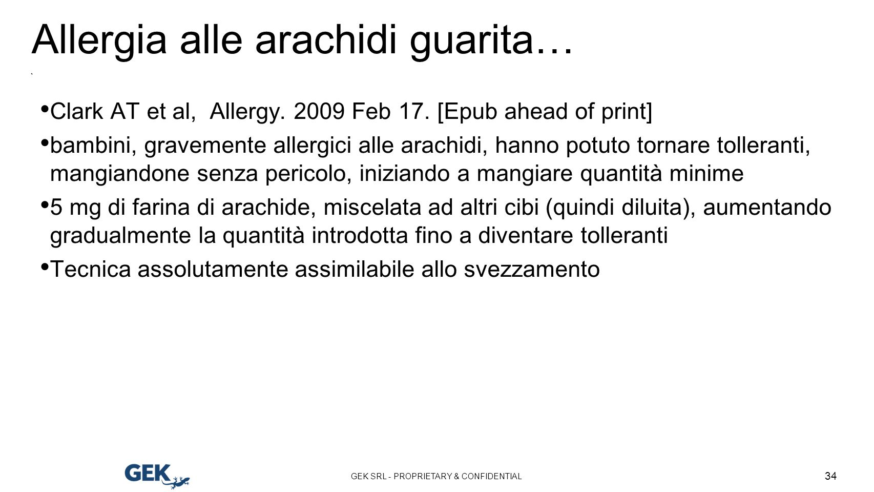 Allergia alle arachidi guarita…
