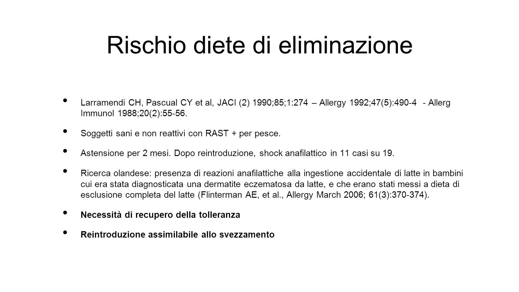 Rischio diete di eliminazione