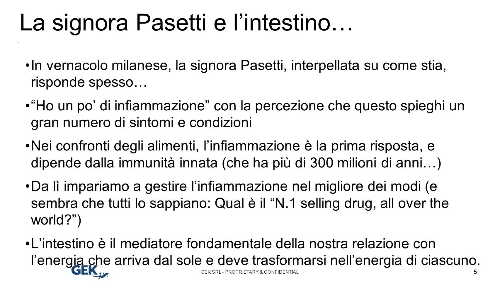 La signora Pasetti e l'intestino…
