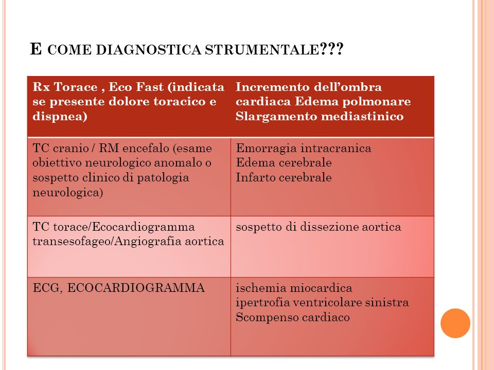 E come diagnostica strumentale
