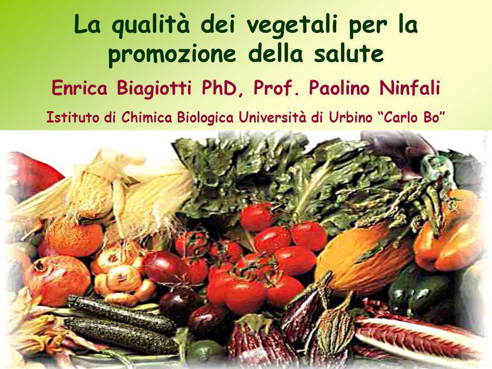 La qualità dei vegetali per la promozione della salute