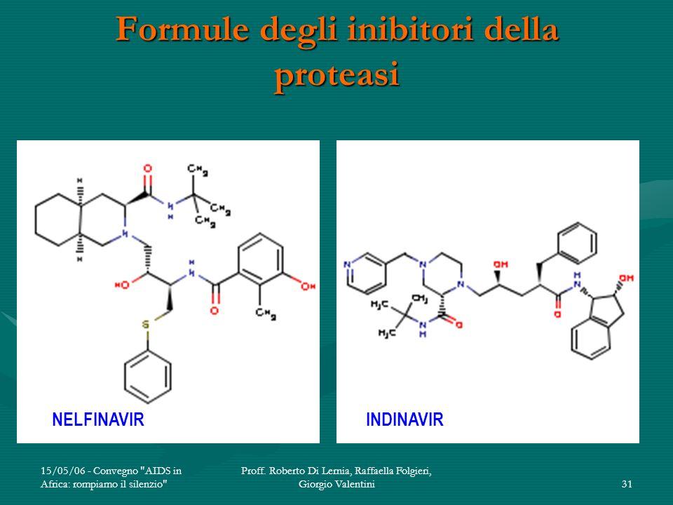 Formule degli inibitori della proteasi