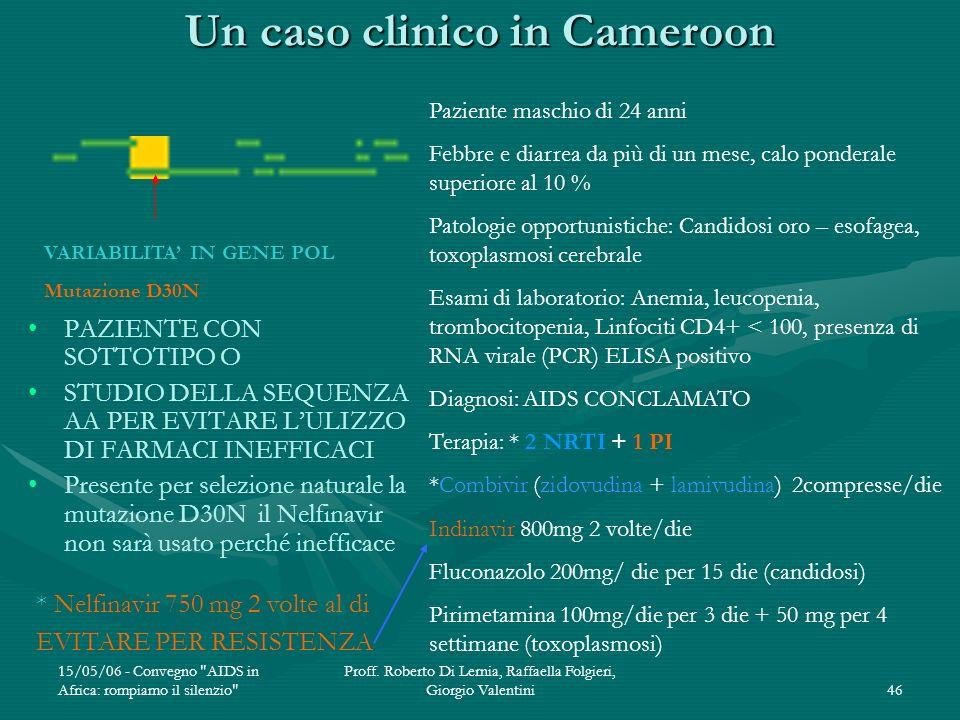 Un caso clinico in Cameroon