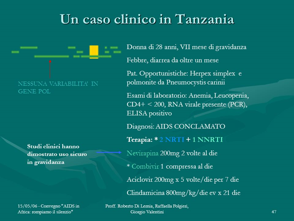 Un caso clinico in Tanzania